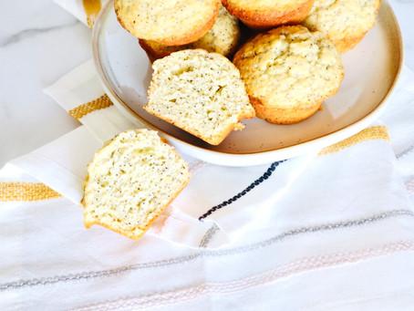 Sweet and Citrusy Lemon Poppy Muffins