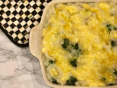 Potato and Broccoli Cheddar Mash