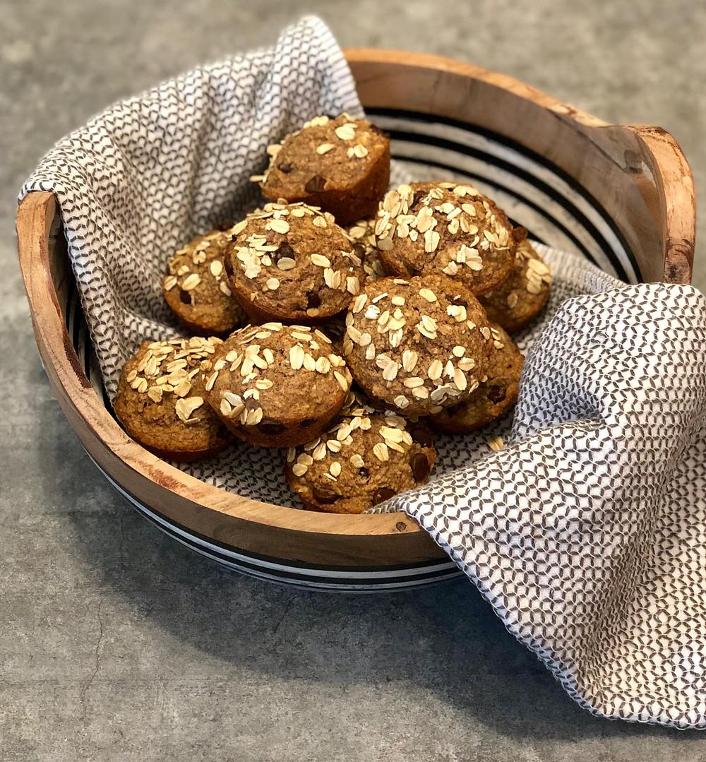 low FODMAP gluten free banana oat muffins