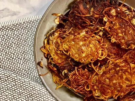 Russet and Sweet Potato Latkes