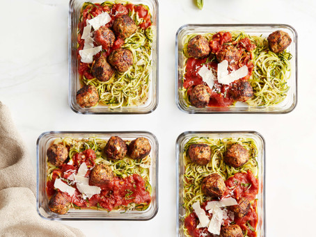 Recipe Share From Toby Amidor's New Book: Turkey Meatballs with Carrots over Zucchini Noodles!