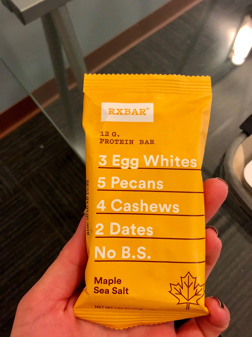 RXBar on the go snack