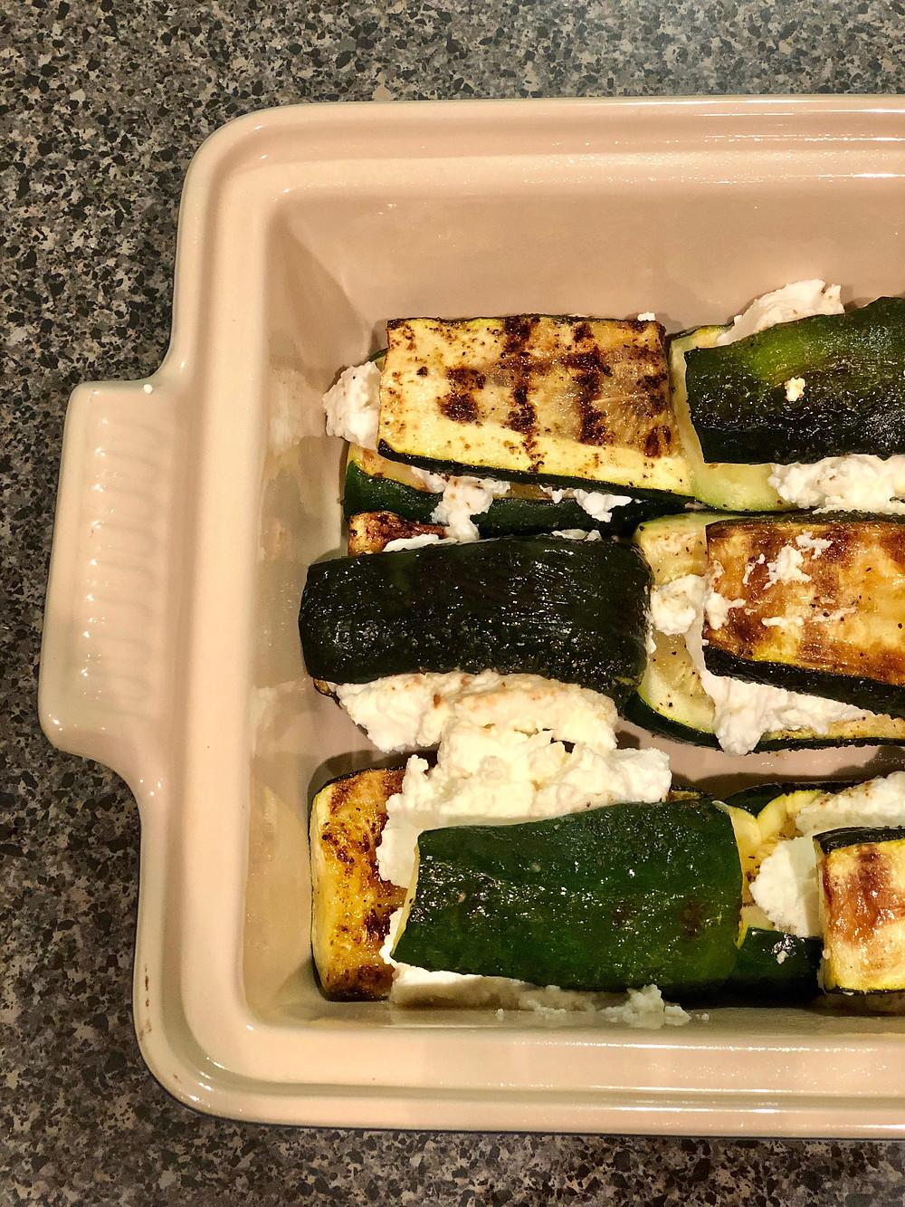 zucchini rollatini prepped