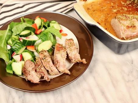 Maple Rosemary Roasted Pork Tenderloin