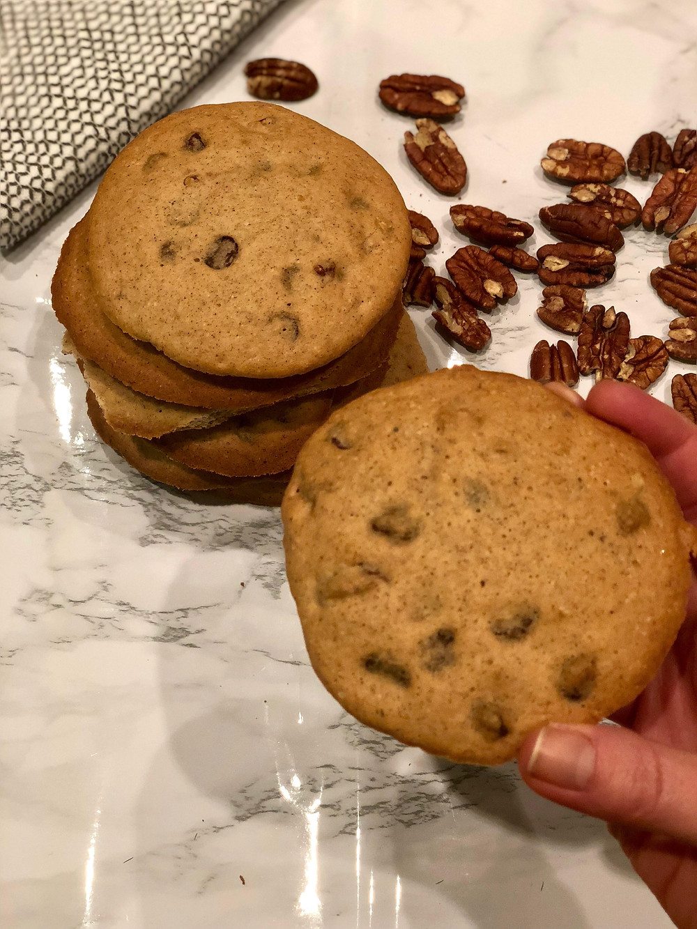 low-fodmap gluten-free banana bread style soft cookies