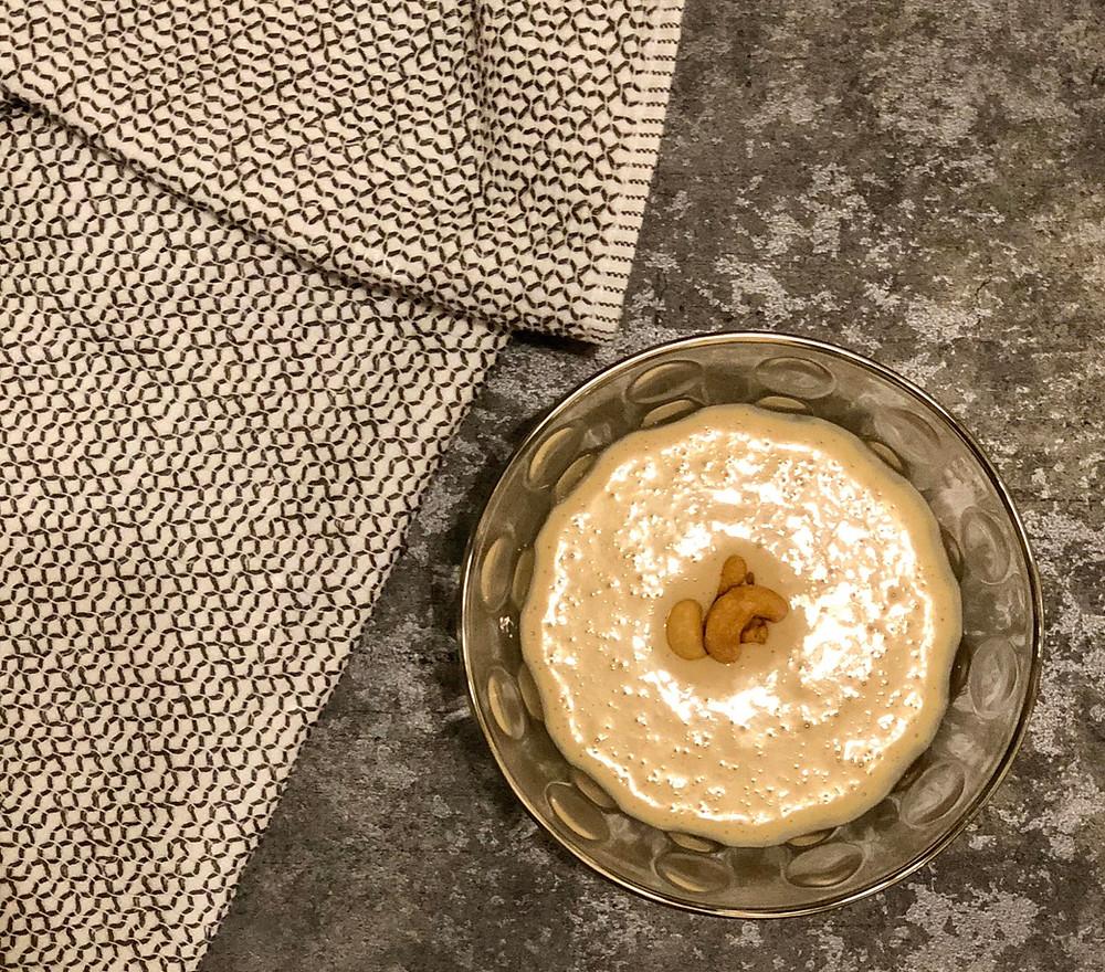 Dairy Free Cashew Cream Sauce, Vegan