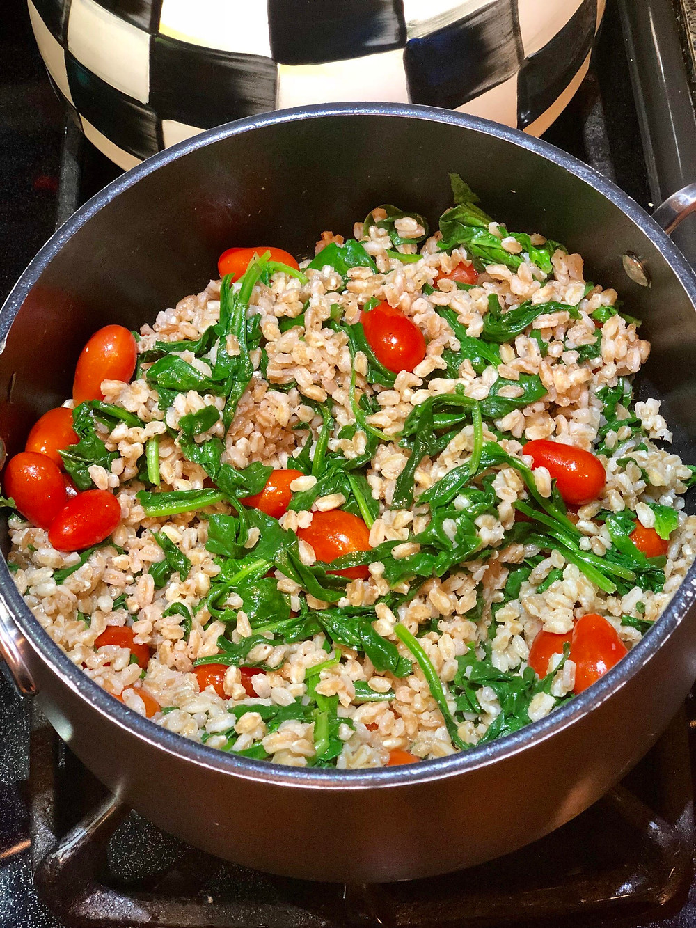 easy farro with vegetables