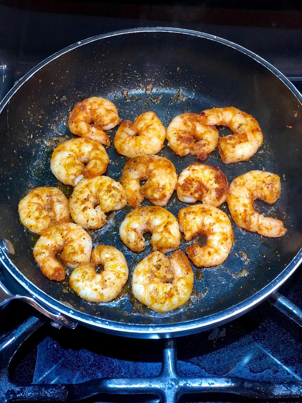simple sautéed shrimp with smoky flavor
