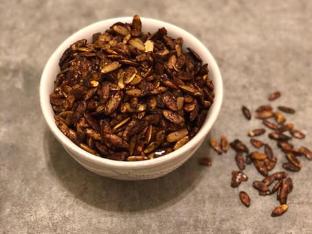 Maple, Vanilla and Pumpkin Spice Pumpkin Seeds