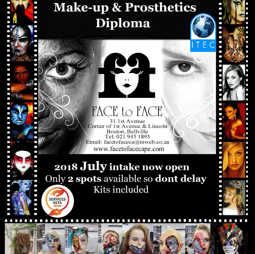 Make-up Prosthetics July 2018