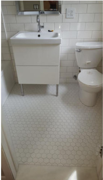 Bathroom renovation- Troy - Octogon tile