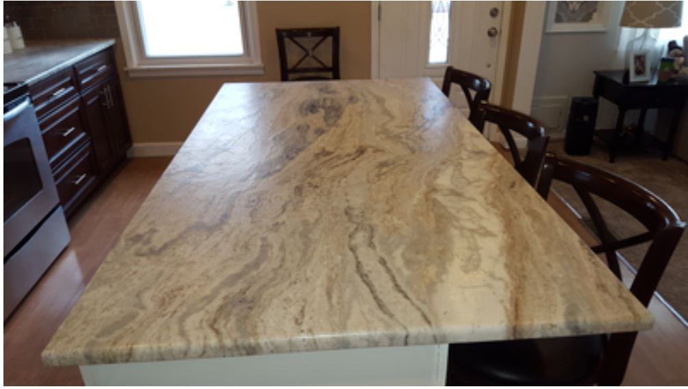Granite countertop, Ferndale - Leather f