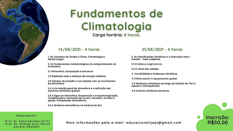 1. Os conceitos de Tempo e Clima, Climat