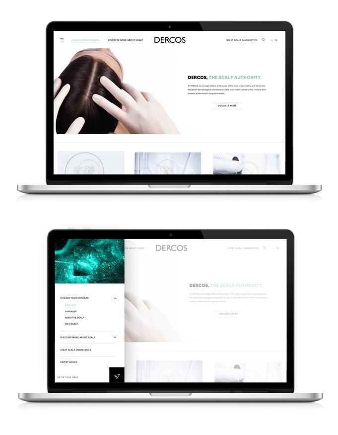 DERCOS VICHY WEBPAGE DESIGN