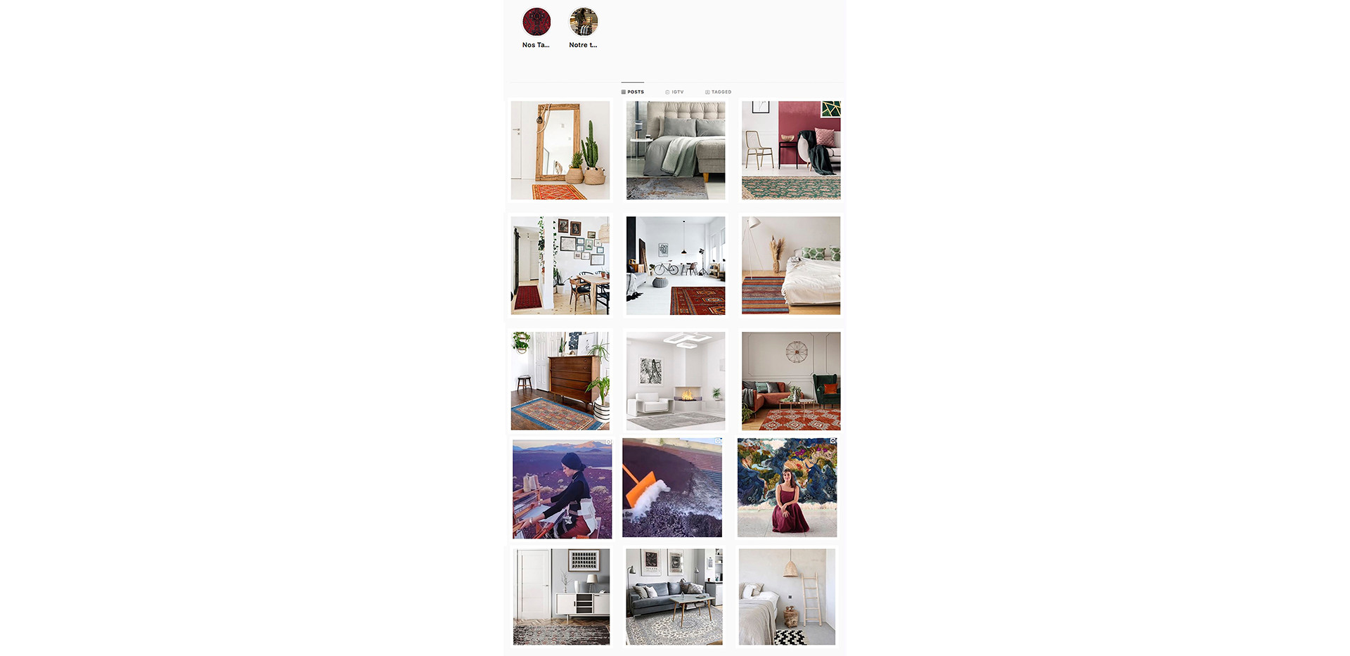 CARPET PALACE INSTAGRAM FEED