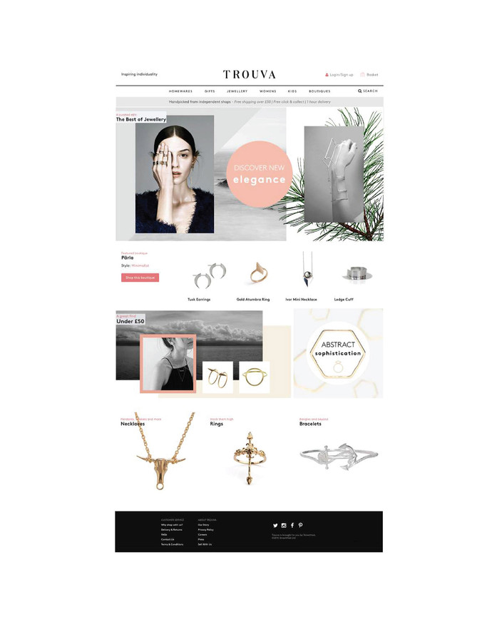 TROUVA WEBPAGE DESIGN