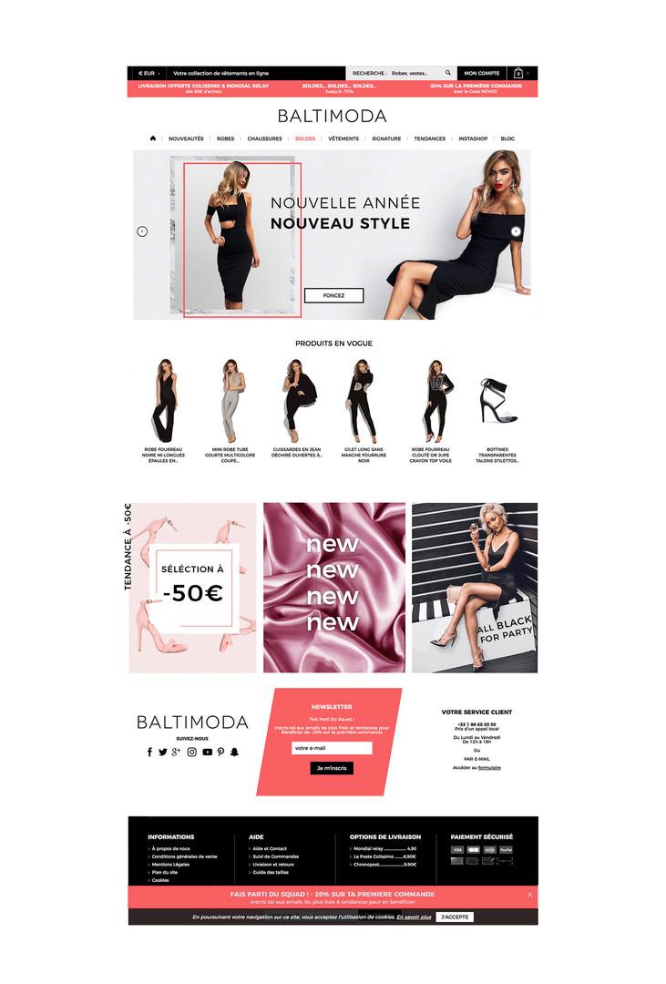 BALTIMODA WEBPAGE DESIGN