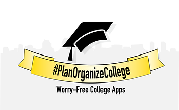 #planorganzecollege logo/sign/poster. worry-free college apps/applications