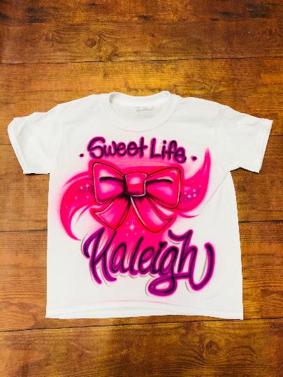 Jojo Siwa Airbrush Shirt Birthday Bow