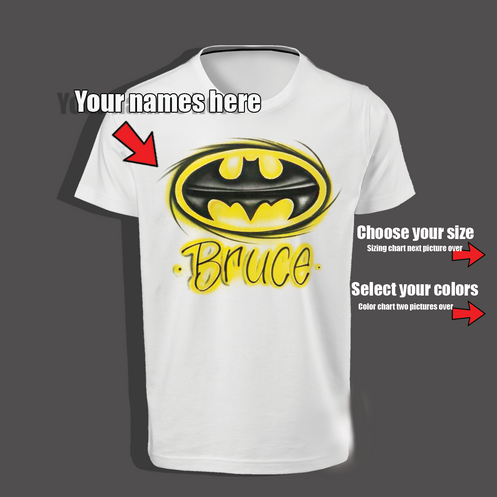 Our Dark Knight Batman Shirt Is Just What The Bruce Entusiast Needs We Can Create You A Custom Airbrush Birthday And Have It Shipped Within 24 Hours