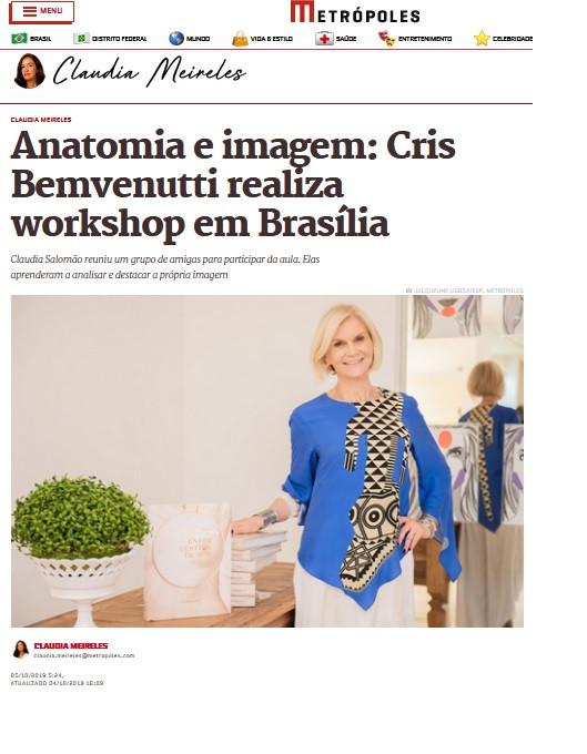 Cris Bemvenutti na imprensa de Brasília