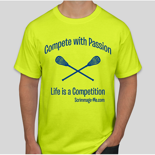 """Lacrosse (front) -  """"Fearless 4 Life"""" (back)"""