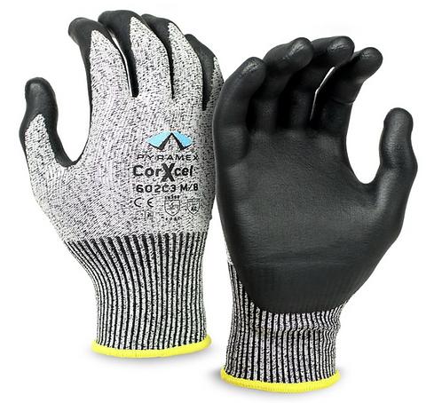 Pyramex Cut-Resistant Micro Foam Nitrile Gloves, GL602C3 Series