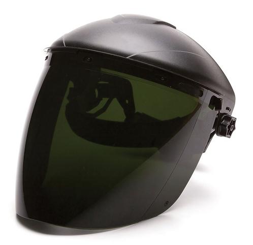 Pyramex Dark Green Tapered Face Shield