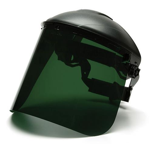 Pyramex Dark Green Polyethylene Face Shield