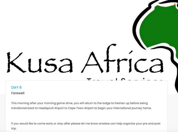 Kusa Africa Travel Services