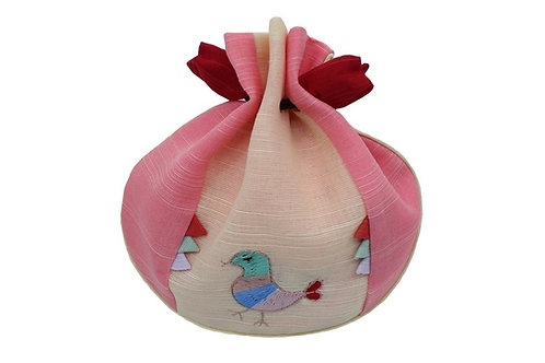 ポッチュモニ 小鳥の刺繡 チョゴリアクセサリー 巾着 トルボク