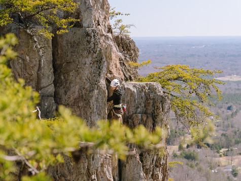 Climbing at Crowders for Go Gaston