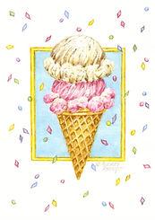 Ice Cream Cone Birthday Card | Audrey Designs