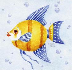 Watercolor Fish Print | Audrey Designs