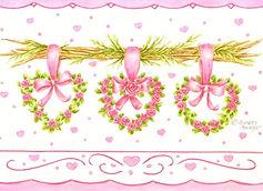 Heart Floral Wreaths Card   Audrey Designs