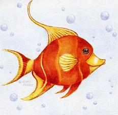 Watercolor Moorish Fish Print | Audrey Designs