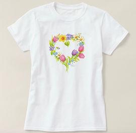 Floral Wreath T-Shirt | Audrey Designs