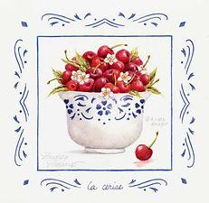 Cherries in Bowl Print | Audrey Designs