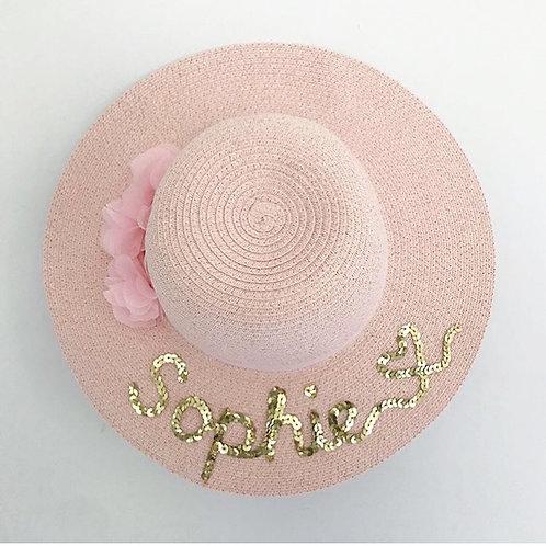 Bespoke children's hat pink