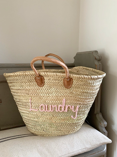 Laundry basket (different colour lettering available)