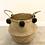 Thumbnail: Dark grey pom pom basket