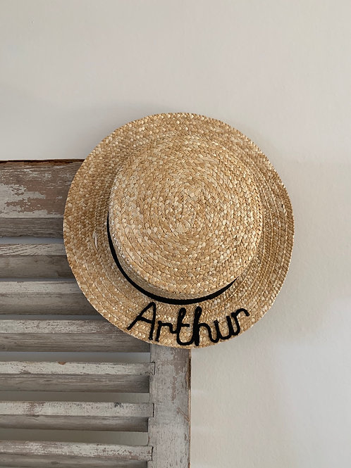 Personalised children's boater hat