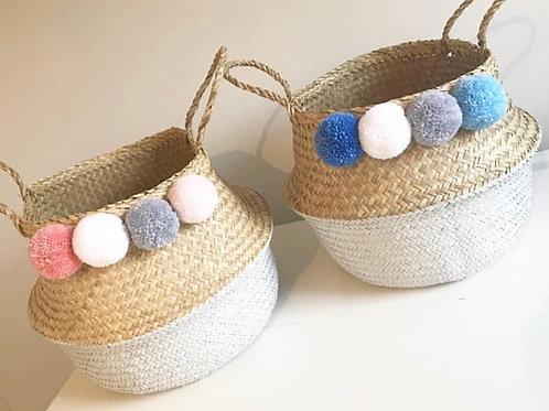 Lucia / Elliot pom pom basket (Large)