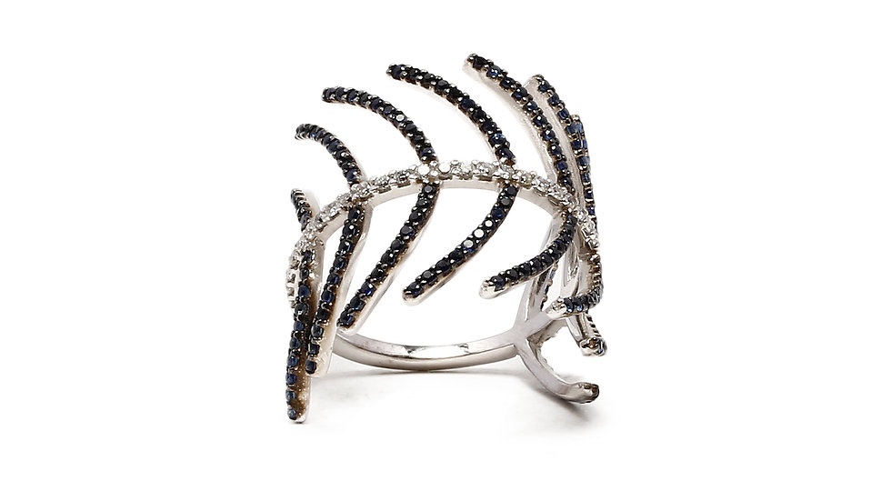 LISCA BLACK & WHITE DIAMONDS RING