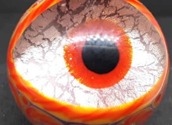 Purple Monster eye Marble with brown Iris by George Pavliscak