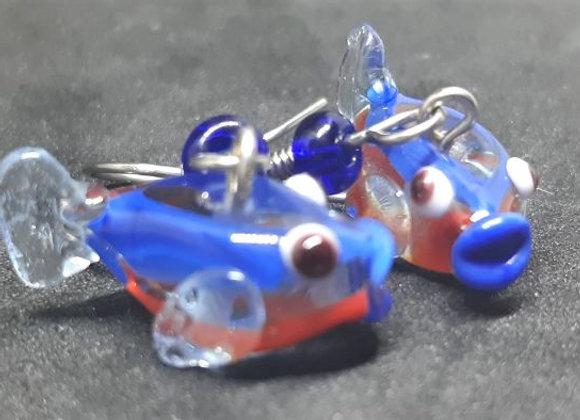 Neon Tetra glass Earrings