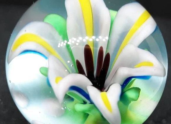 Spring Iris Glass Flower marble by George Pavliscak