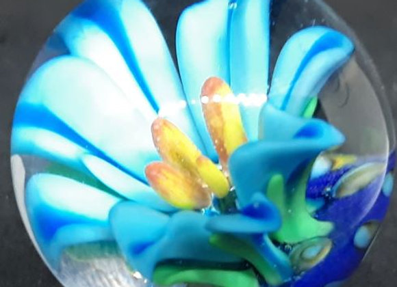 Periwinkle lily glass flower marble by George Pavliscak