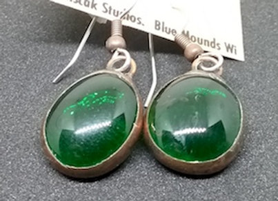 Emerald Glass Droplet Earring