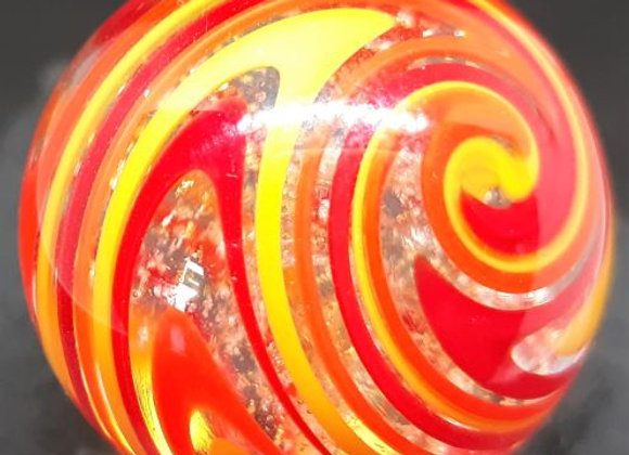 Ultraviolet Torsion Marble,  Fire, silver and Gold By George Pavliscak